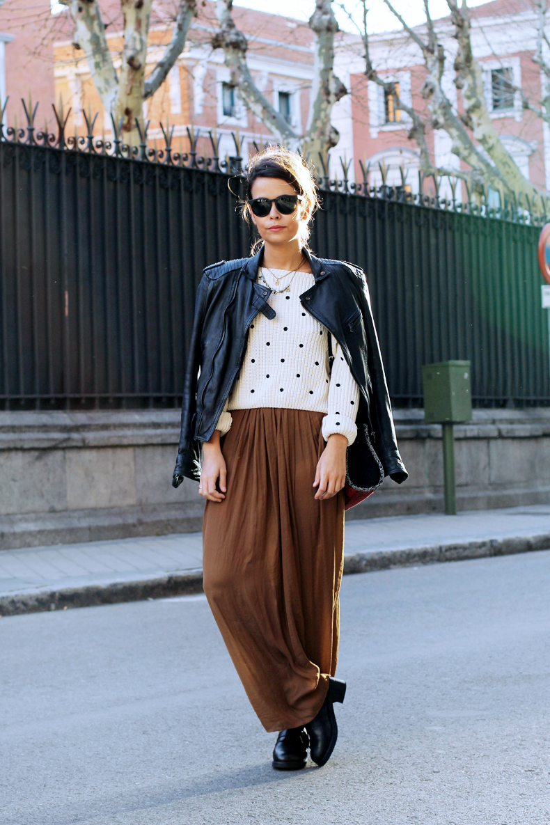 Long_Skirt-Biker_Jacket-Dot_Sweater-Outfit-Street-Style-15