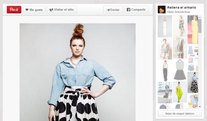 "Pinterest ""Rellena el armario"""